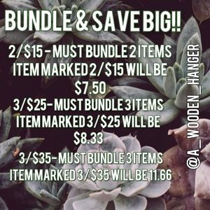How to bundle from my closet